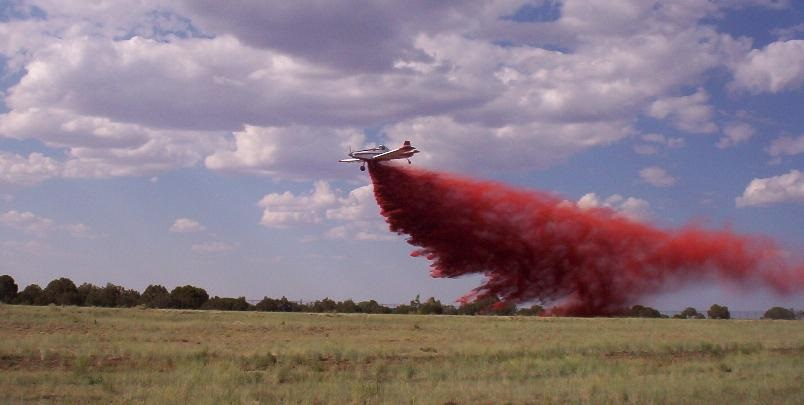 Single Engine Air Tanker fire retardant drop