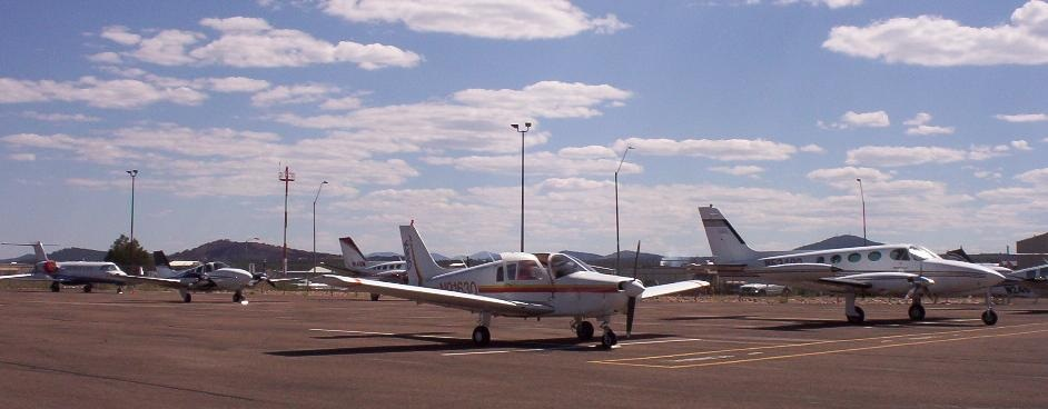 Airplanes on the north ramp